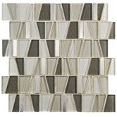 "Found it at Wayfair - Trapeze 11.75"" x 11.875"" Glass and Aluminum Mosaic Tile in Beige"