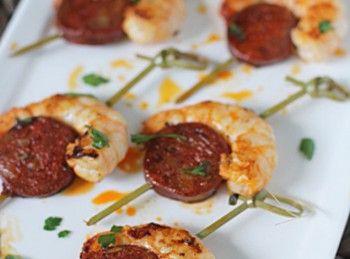 Spanish Recipe - Prawn and Chorizo Nibbles
