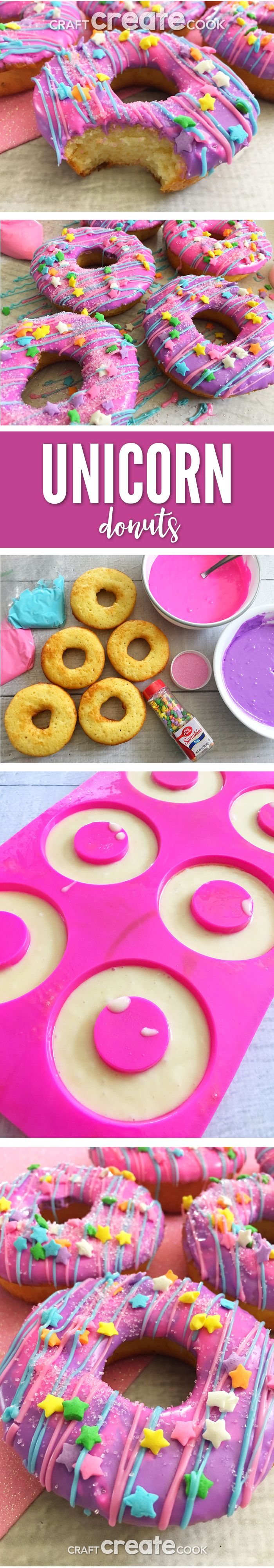 Our Colorful Unicorn Cake Donuts will make you squeal with excitement!    via @CraftCreatCook1