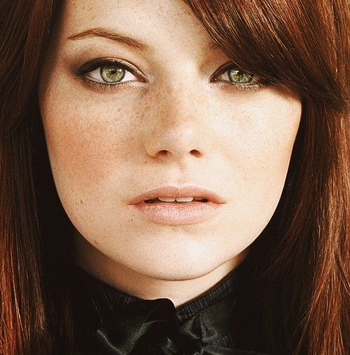 Emma Stone Red hair, green eyes