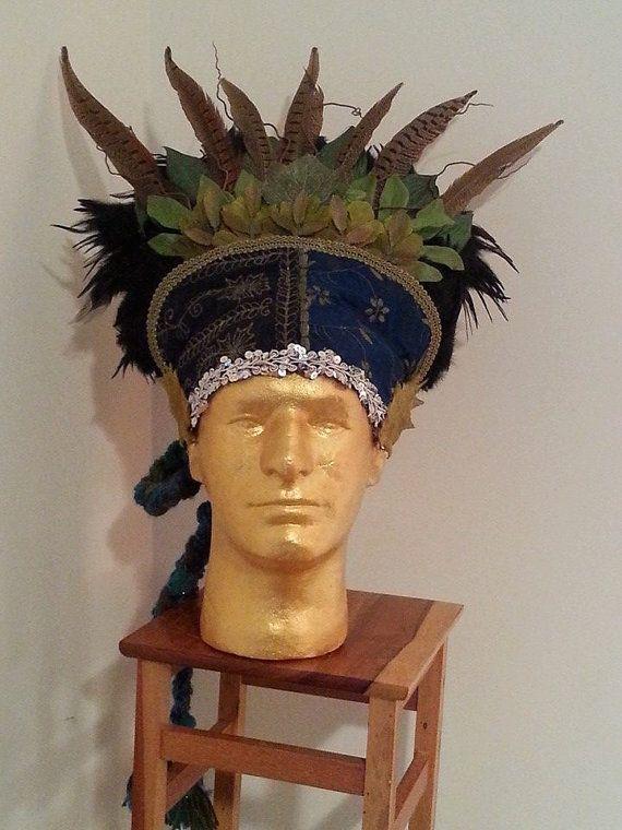 Fairy Folk Green Man Forest King Headdress by EarthSpiritJewels, $95.00