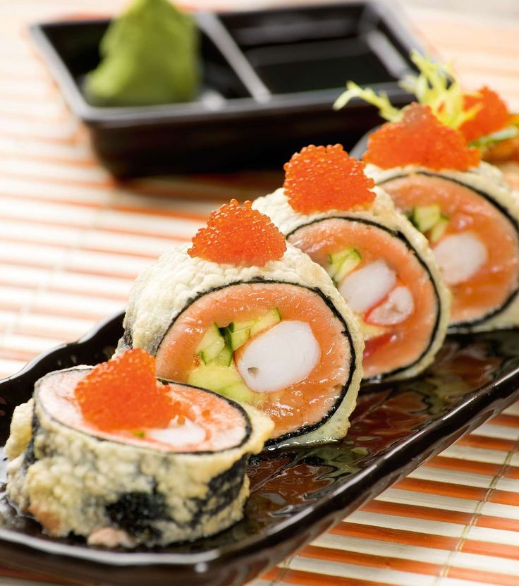 Tiger Eye (Salmon and Shrimp Sushi Roll Without Rice)