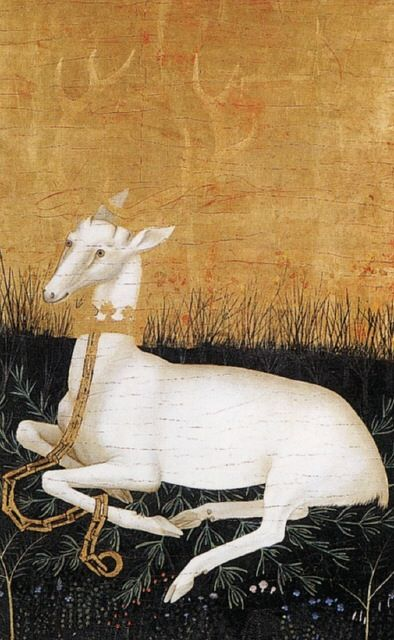 White hart, 1395. The deer (particularly the doe) has the capacity for infinite generosity. Her heart rhythms pulse in soft waves of kindness. Match that graciousness by offering your trust to her. She will reward you by leading you to the most powerful spiritual medicine you can fathom.