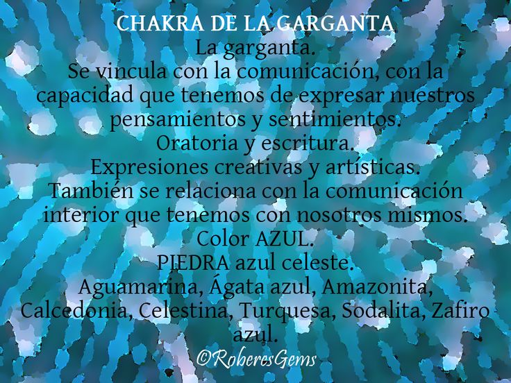 Chakra Garganta. Color Azul.