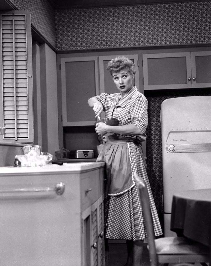 """Lucille Ball in a promotional still for The I Love Lucy Episode """"Nursery School""""."""
