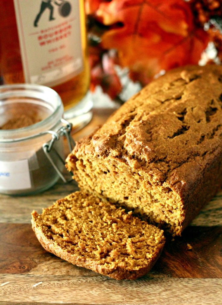 Enjoy the flavors of Fall with this bourbon-spiked (healthier) pumpkin bread! Thanks to whole wheat flour, Greek yogurt, and pumpkin puree, this quick bread is lower in fat and calories than most c…