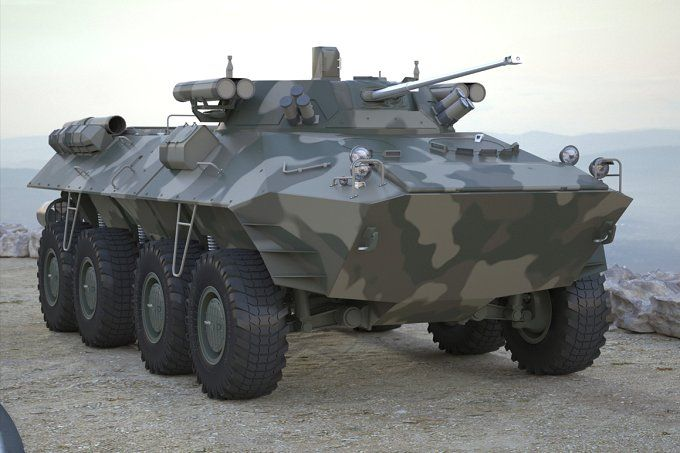 Armoured Transporter BTR 90 by 3D Models by Obshansky on @creativemarket