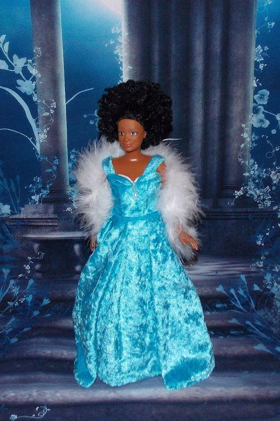 Lammily Crushed Velvet Renaissance Blue by MySweetDollBoutique