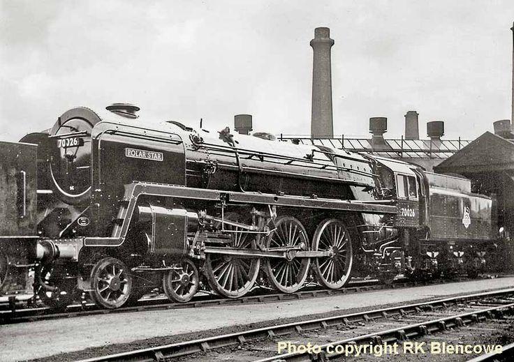 Fresh off the assembly line in October 1952, Polar Star 70026, Britannia Class Locomotive