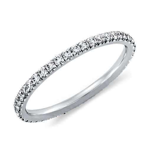 Pavé Diamond Eternity Ring in 14K White Gold (3/8 ct. tw.)