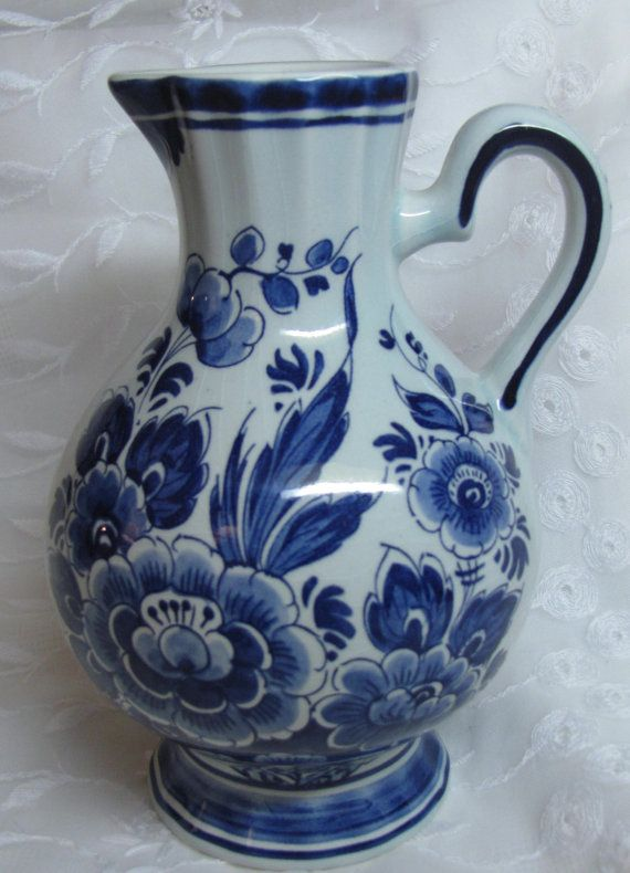 Delft Holland Vase by JoyfulMoonDesigns on Etsy, $17.00