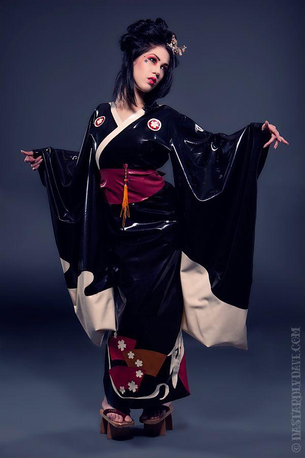 Latex kimono