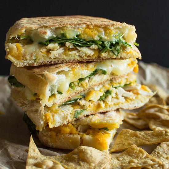 Got some leftover chicken? Try your hand at this chicken panini with butternut squash spread by Healthy Nibbles & Bits. A paninimakes the perfect brown bag lunch item–crispy bread on the outsi...
