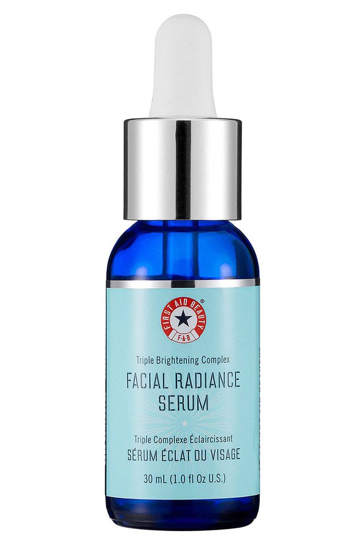 First Aid Beauty Facial Radiance Serum - This serum contains licorice root and vitamin C to improve skin tone, and it gets points for being gentle on sensitive skin.