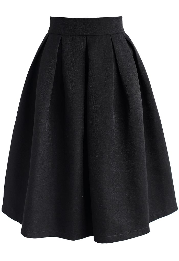 Retain My Classic A-line Skirt in Black - New Arrivals - Retro, Indie and Unique Fashion