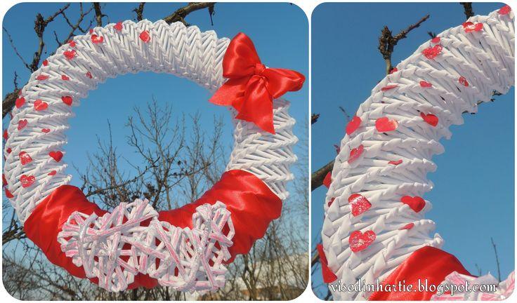 Paper door wreath