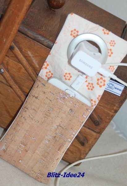 Handy-Zubehör - Handy, Ladetasche, Tasche, Blume  - ein Designerstück von handmade-by-el bei DaWanda