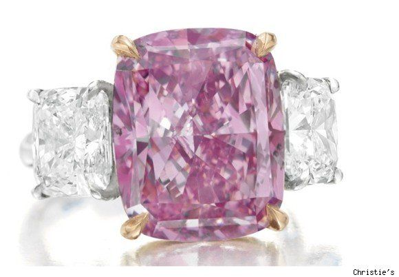 The diamond is estimated at 12 million to 15 million. The record for pink diamonds belongs to a 24.78 carat stone which sold for $ 46 million at Sotheby's last year.