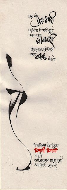 Calligraphic Expressions.... ....          by B G Limaye: Calligraphy-10.02.2012