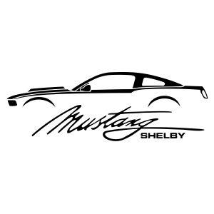 black and white ford mustang clipart - Google Search