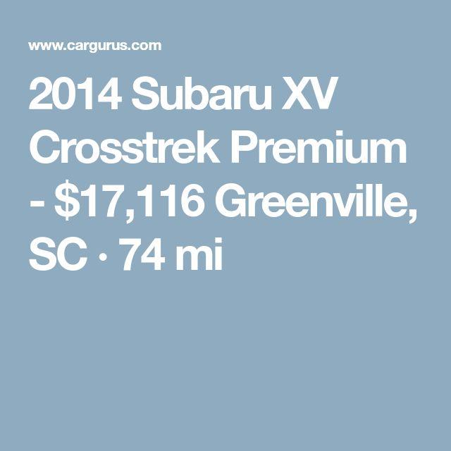 2014 Subaru XV Crosstrek Premium - $17,116 Greenville, SC · 74 mi
