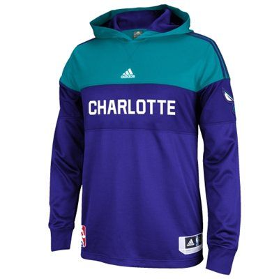 Mens Charlotte Hornets adidas Purple 2014 On-Court Shooter Long Sleeve T-Shirt