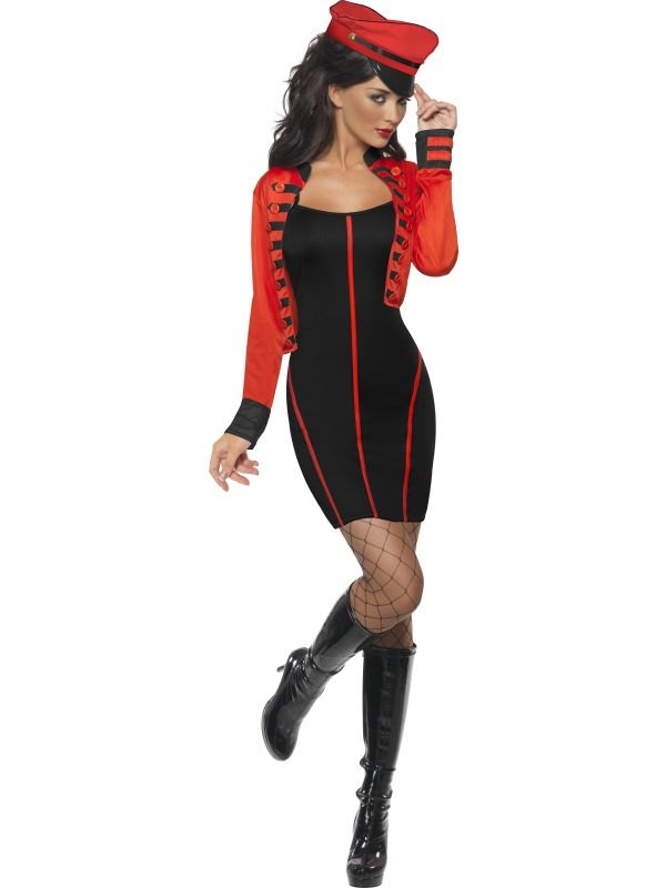 Fever Military Popstar Costume, with Dress and Jacket