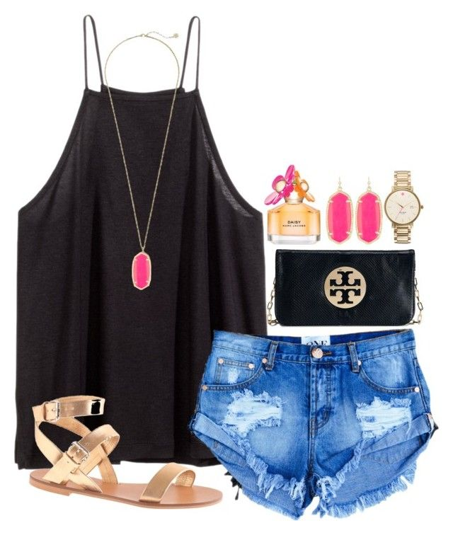 """""""maybe going to the mall today?"""" by okieprep ❤ liked on Polyvore featuring Marc Jacobs, H&M, Tory Burch, Kendra Scott, J.Crew and Kate Spade"""