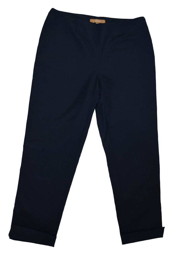 Ellen Tracy Navy Blue Ankle Cropped Pants- Size 4