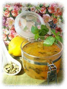 Lillaya - Лимонный конфитюр с мятой и кардамоном. 6 лимонов 700 г сахара (если не любите кислое, смело добавляйте еще 100 г сахара:) 10 коробочек кардамона 1 пучок свежей мяты 1 пакет желфикс 1/4 ч л куркумы (не обязательно, просто чтобы цвет был золотой)