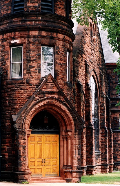 This is part of the St. Paul's Anglican Church in Charlottetown, PEI. Built in 1896