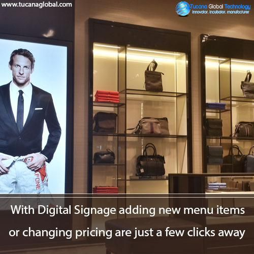 With #DigitalSignage adding new #menu items or changing #pricing are just a few clicks away. #TucanaGlobalTechnology #Manufacturer #HongKong