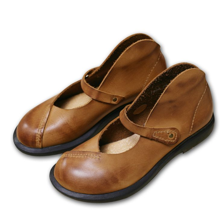New Spring Autumn Japanese Women Shoes Handmade Leather Shoes Restoring Ancient Ways Cotton Sapato Leather Flat Shoes 7888(China (Mainland))