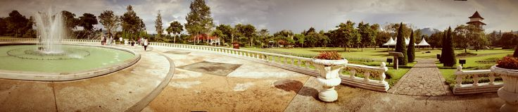 The landscape of Taman Bunga Fountain, Bogor - Indonesia