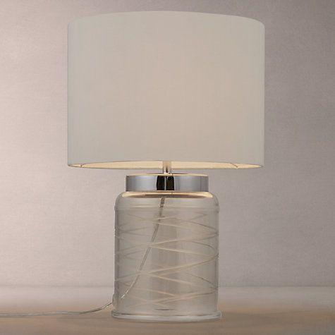 Buy John Lewis Tilda Swirl Glass Table Lamp, Clear/White Online at johnlewis.com