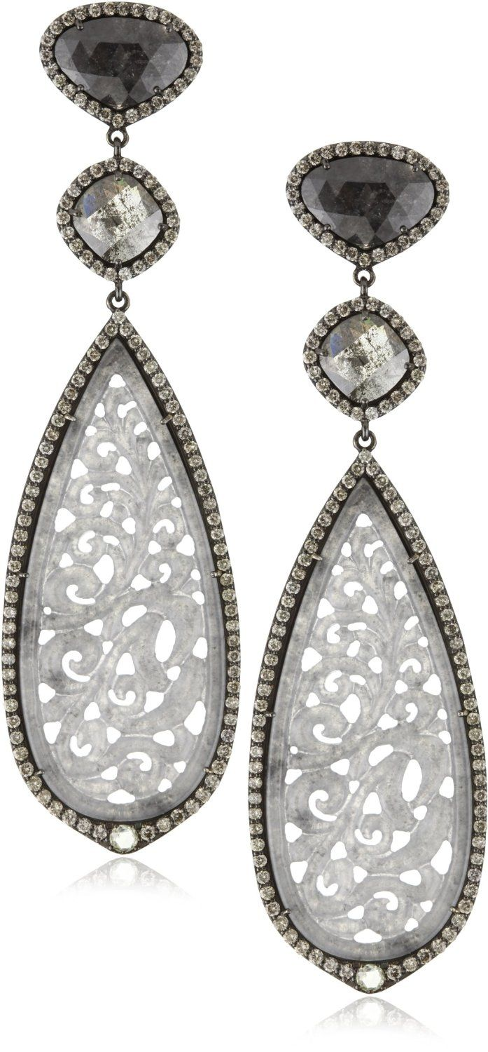 Find This Pin And More On Jewellery: Black Diamond Jewellery Drop Earrings