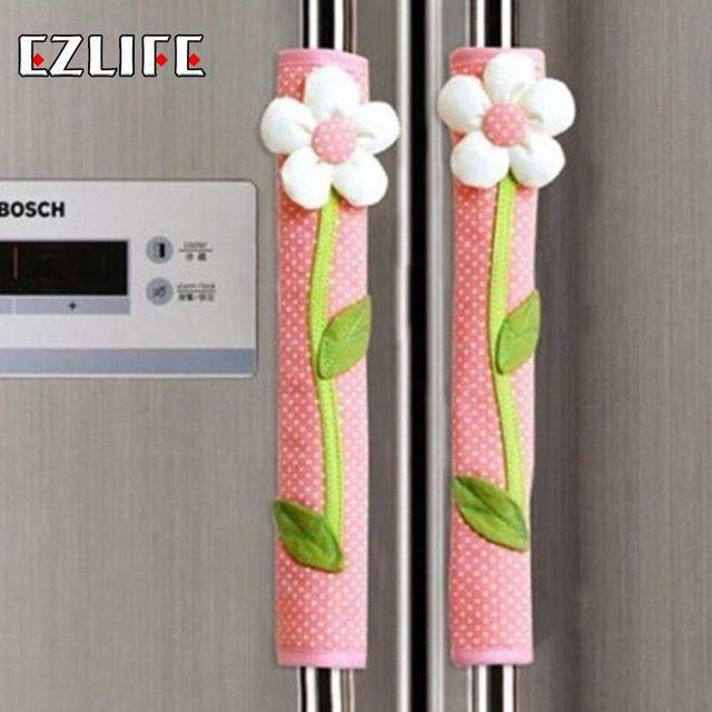 Refrigerator Handle Cover Flower Polka Dot Print Fridge Door Handle Gloves Home Decor Kitchen Handle Cover Accessories Tools In 2020 Fridge Decor Door Handles Fridge Handle Covers