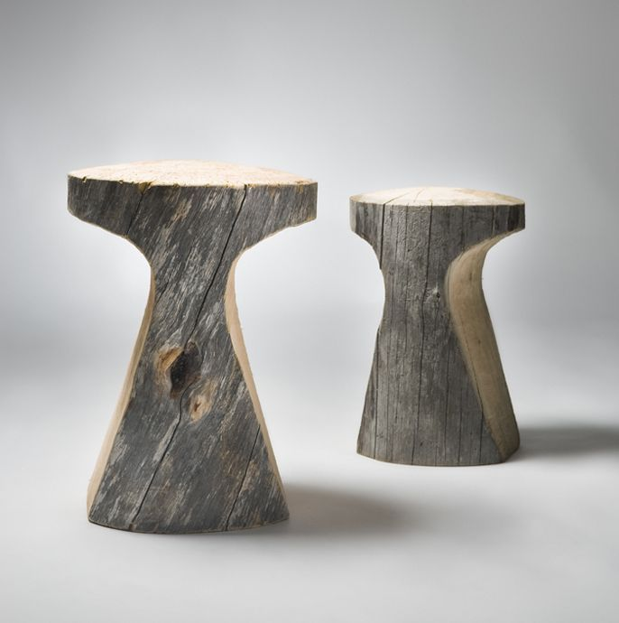 log stools: (Diy Bench Stool)