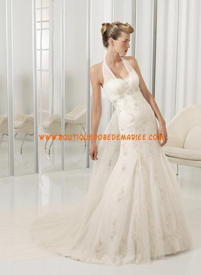 Robe de mariée sirène avec traîne Watteau