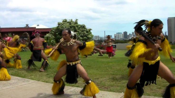 Te Hina o te Motu Haka  Dance group from Nuku Hiva came to visit Bishop Museum in April 2013.