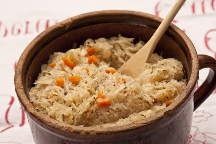 Sauerkraut ist als Beilage in der fränkischen Küche unverzichtbar.