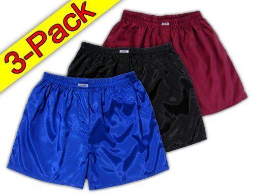 #martialarts #valentines £12.85 Blue Black Burgundy 3 pack Thai real Silk Boxer Shorts Underwear Men https://www.amazon.co.uk/dp/B00EI5CQMS/ref=cm_sw_r_pi_dp_x_HeDJyb1HYB80M