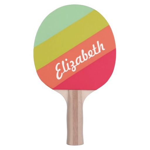 Pastel Rainbow Personalized Ping Pong Paddle #zazzle #pingpong #tabletennis