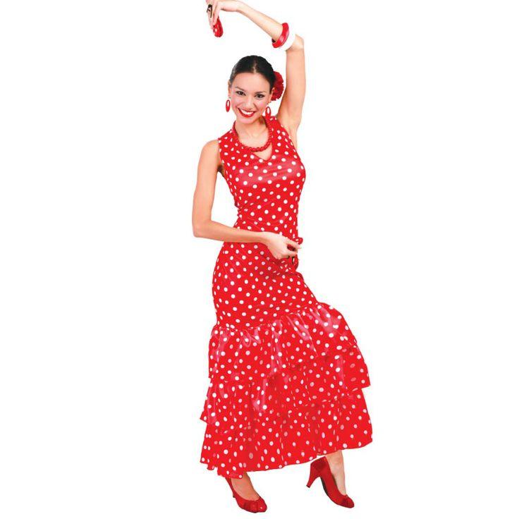 Déguisement Flamenco Pois Rouges #déguisementsadultes #costumespouradultes #nouveauté2015