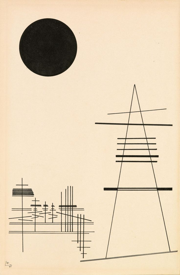 "thunderstruck9: "" Wassily Kandinsky (Russian, 1866-1944), Zeichnung für Punkt und Linie zu Fläche [Drawing for point and line to surface], 1925. Indian ink on paper mounted on cardboard, 34.5 x 22.5 cm. """