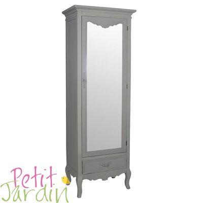 Шкаф с зеркалом бирюзовый