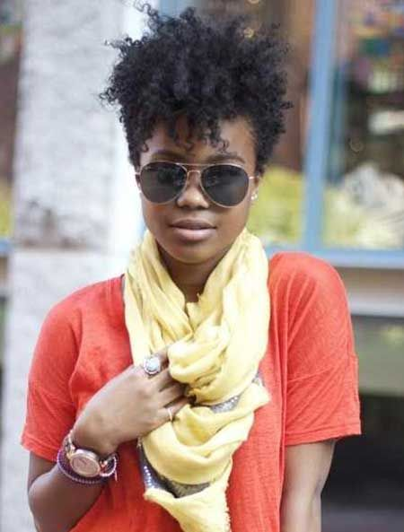 Very Short Afro Style