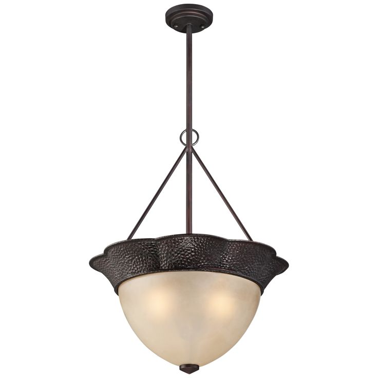 """Annville 20"""" Wide Hammered Bronze Pendant Light - Style # 8H744"""