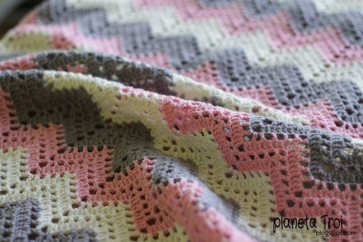 Szydełkowy kocyk/ Crochet baby blanket