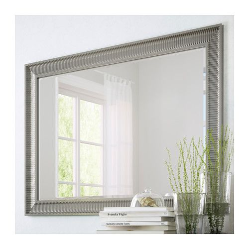 Songe mirror silver color silver hallways and ikea hallway for Miroir ikea songe